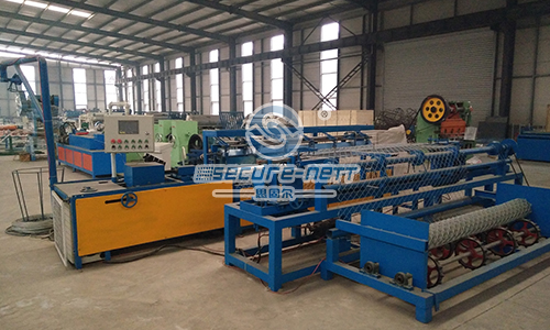 PLC Control Fully Automatic Chain Link Fence Machine
