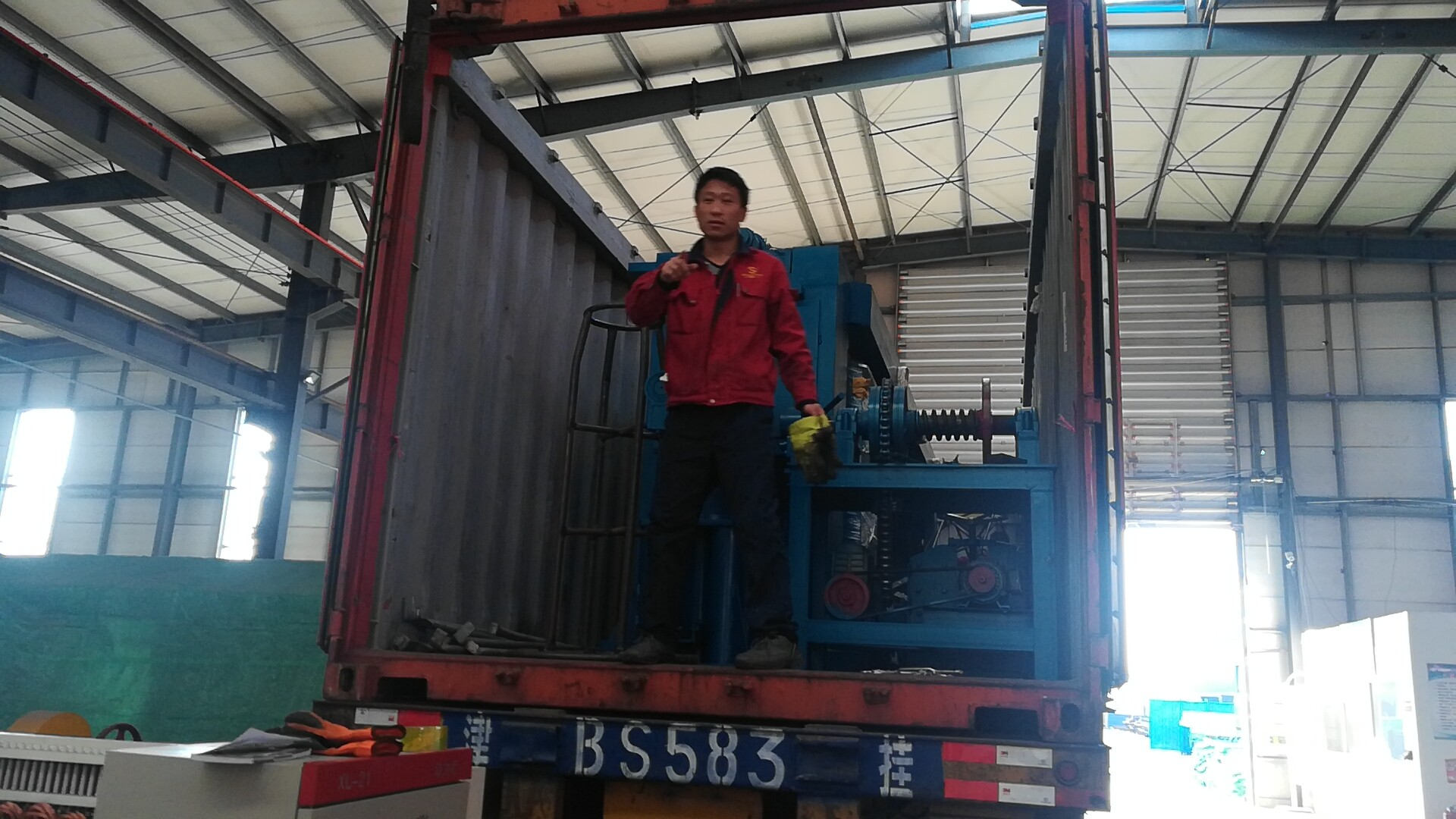 Gabion Mesh Machine on Loading from China SECURE-NETT Factory
